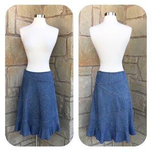 Gap Flare Jean Skirt